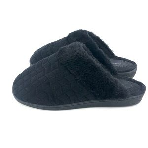 Catherine's Black Slip On House Shoes/Slippers